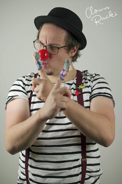 Clown Klinikclown Rucki Kuss Fingerpuppe Oma Opa 03