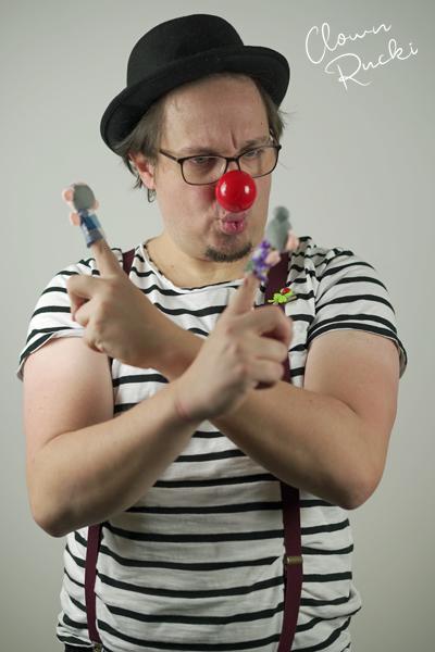 Clown Klinikclown Rucki Kuss Fingerpuppe Oma Opa 04