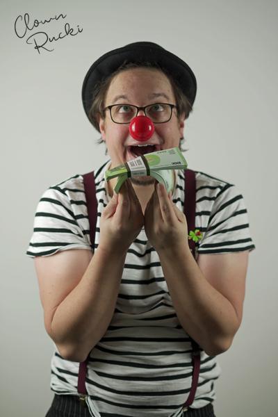 Clown Klinikclown Rucki Geld